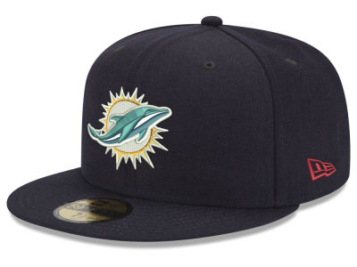 Miami Dolphins New Era NFL Team Basic 59FIFTY Cap 7d0298ec7a3