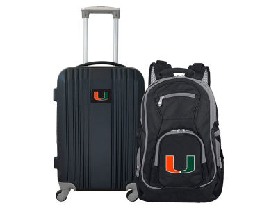 Miami Hurricanes Mojo 2 Piece Luggage & Backpack