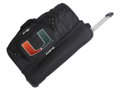Miami Hurricanes Mojo 27in Wheeled Duffel Bag