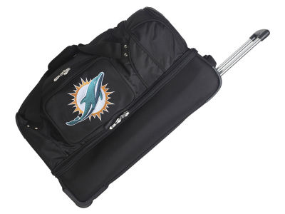 Miami Dolphins Mojo 27in Wheeled Duffel Bag