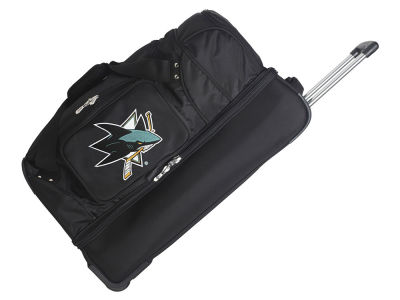 San Jose Sharks Mojo 27in Wheeled Duffel Bag