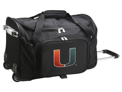 Miami Hurricanes Mojo 22in Wheeled Duffel Bag