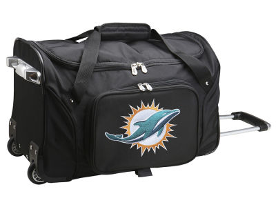 Miami Dolphins Mojo 22in Wheeled Duffel Bag
