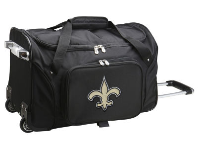 New Orleans Saints Mojo 22in Wheeled Duffel Bag