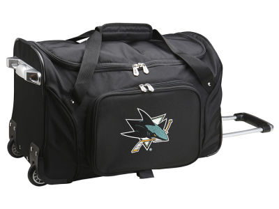 San Jose Sharks Mojo 22in Wheeled Duffel Bag