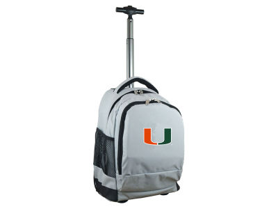 Miami Hurricanes Mojo Wheeled Premium Backpack
