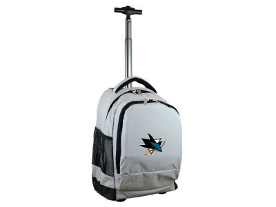 San Jose Sharks Mojo Wheeled Premium Backpack