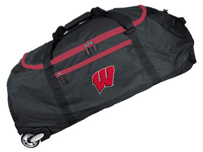 Wisconsin Badgers Mojo 36in Checked In Rolling Duffel