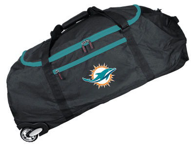 Miami Dolphins Mojo 36in Checked In Rolling Duffel