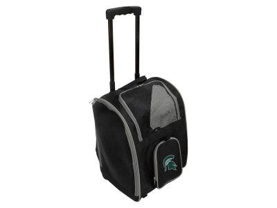 Michigan State Spartans Mojo Pet Carrier Premium Bag with Wheels