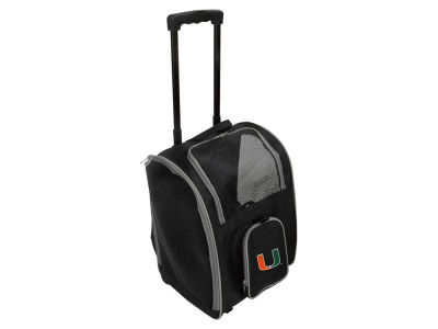 Miami Hurricanes Mojo Pet Carrier Premium Bag with Wheels