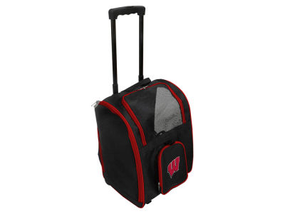 Wisconsin Badgers Mojo Pet Carrier Premium Bag with Wheels