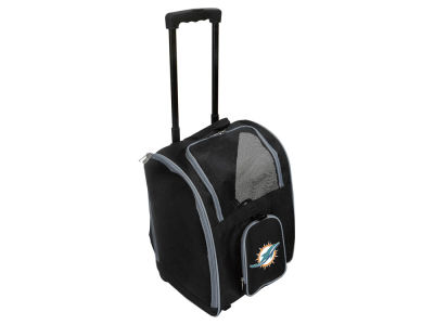 Miami Dolphins Mojo Pet Carrier Premium Bag with Wheels