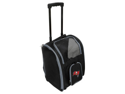 Tampa Bay Buccaneers Mojo Pet Carrier Premium Bag with Wheels