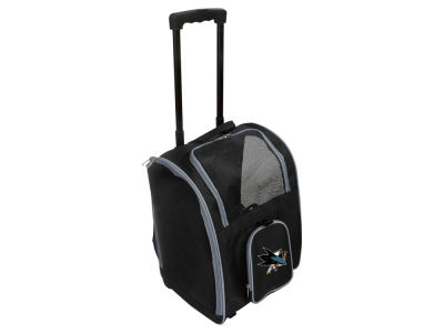 San Jose Sharks Mojo Pet Carrier Premium Bag with Wheels