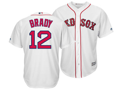 Boston Red Sox Tom Brady Majestic MLB Men's NFLPA Replica Cool Base Jersey