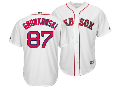 Boston Red Sox Rob Gronkowski Majestic MLB Men's NFLPA Replica Cool Base Jersey