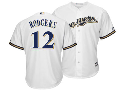 Milwaukee Brewers Aaron Rodgers Majestic MLB Men's NFLPA Replica Cool Base Jersey