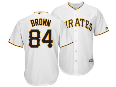 Pittsburgh Pirates Antonio Brown Majestic MLB Men's NFLPA Replica Cool Base Jersey