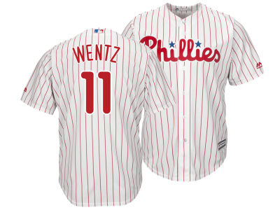 Philadelphia Phillies Carson Wentz Majestic MLB Men's NFLPA Replica Cool Base Jersey