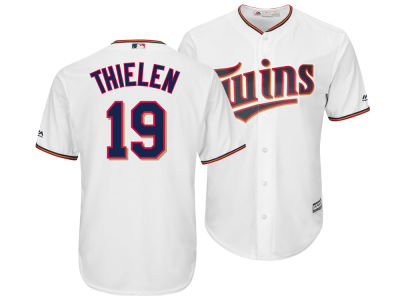 Minnesota Twins Adam Thielen Majestic MLB Men's NFLPA Replica Cool Base Jersey