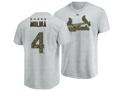 St. Louis Cardinals Yadier Molina Majestic MLB Men's Camo Player T-Shirt