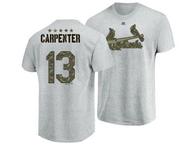 St. Louis Cardinals Matt Carpenter Majestic MLB Men's Camo Player T-Shirt