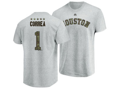 Houston Astros Carlos Correa Majestic MLB Men's Camo Player T-Shirt