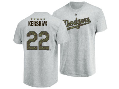 Los Angeles Dodgers Clayton Kershaw Majestic MLB Men's Camo Player T-Shirt