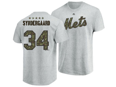 New York Mets Noah Syndergaard Majestic MLB Men's Camo Player T-Shirt