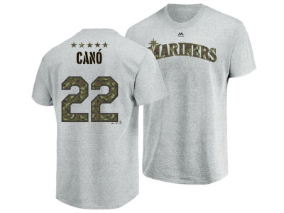 Seattle Mariners Robinson Cano MLB Men's Camo Player T-Shirt