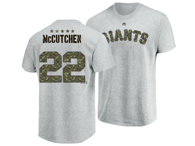 San Francisco Giants Andrew McCutchen Majestic MLB Men's Camo Player T-Shirt