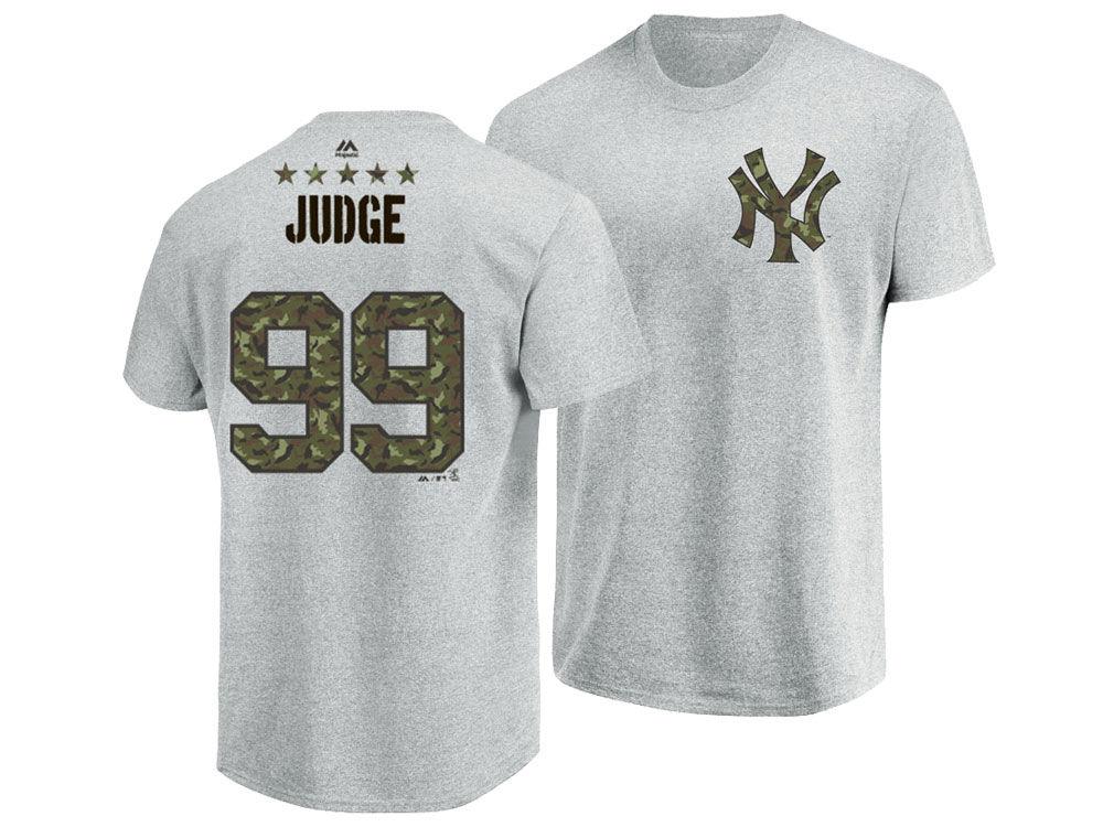 New York Yankees Aaron Judge Majestic MLB Men s Camo Player T-Shirt ... 53b2636e9