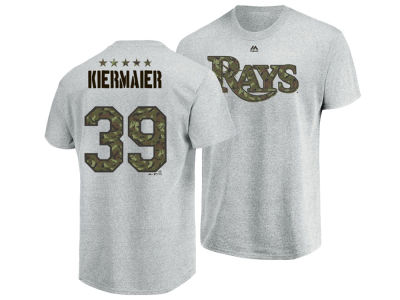 Tampa Bay Rays Kevin Kiermaier Majestic MLB Men's Camo Player T-Shirt