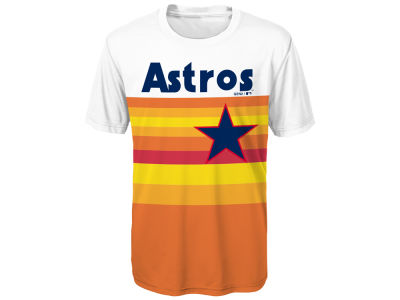 Houston Astros Outerstuff MLB Youth Coop Poly Blank T-Shirt