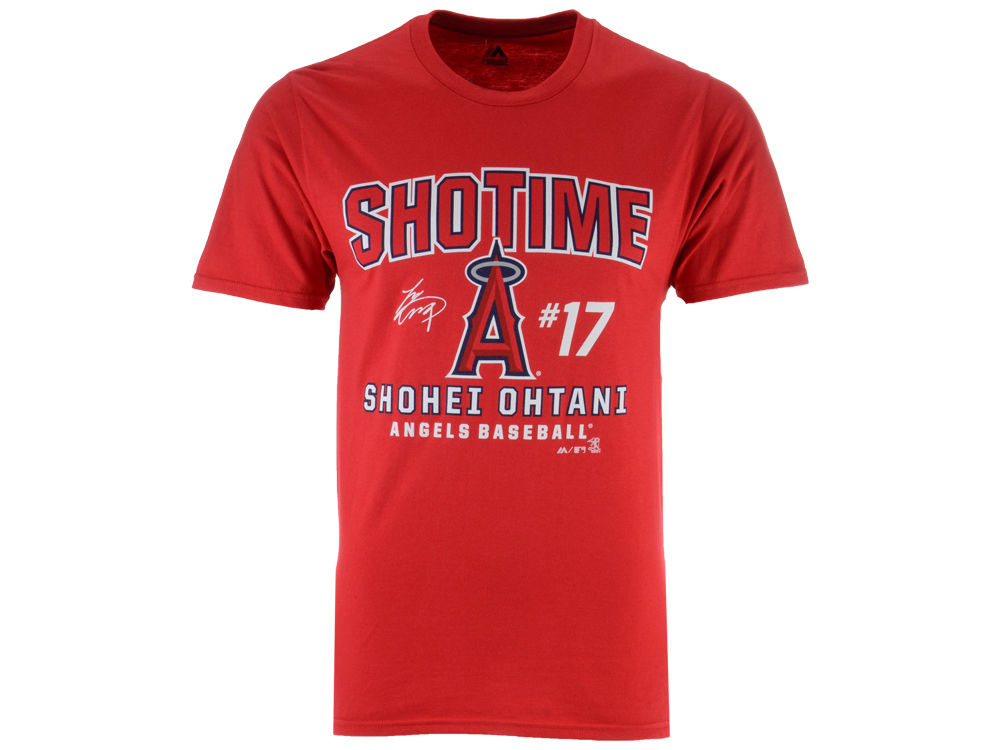 cb036ea3f Los Angeles Angels Shohei Ohtani Majestic MLB Men s Ohtani Showtime T-shirt