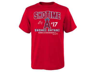 Los Angeles Angels Shohei Ohtani Majestic MLB Youth Ohtani Showtime T-Shirt