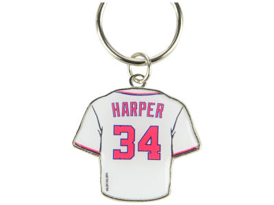 Washington Nationals Bryce Harper Aminco Jersey Spinner Keychain - Player