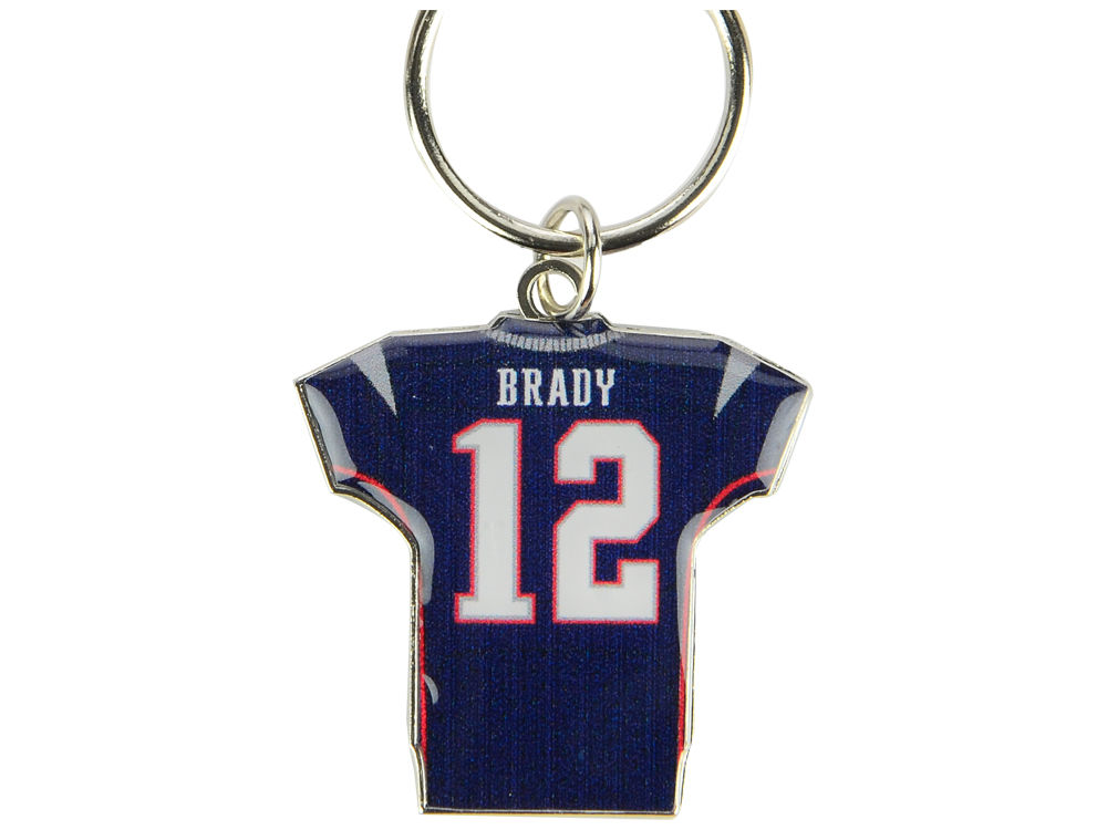 New England Patriots Tom Brady Aminco Jersey Spinner Keychain - Player  8efe56796