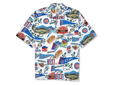 Chicago Cubs MLB Men's Aloha Print Button Up