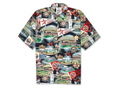 Houston Astros MLB Men's Aloha Print Button Up