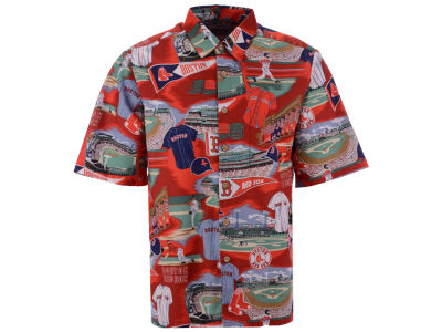 Boston Red Sox MLB Men's Aloha Print Button Up