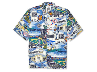 New York Yankees MLB Men's Aloha Print Button Up