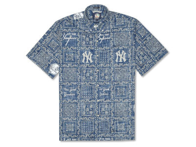 New York Yankees MLB Men's Lahaina Print Shirt