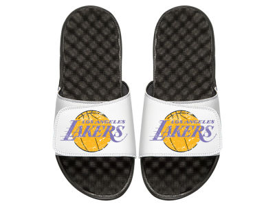 Los Angeles Lakers ISlide Men's Hardwood Classic Distressed Sandals