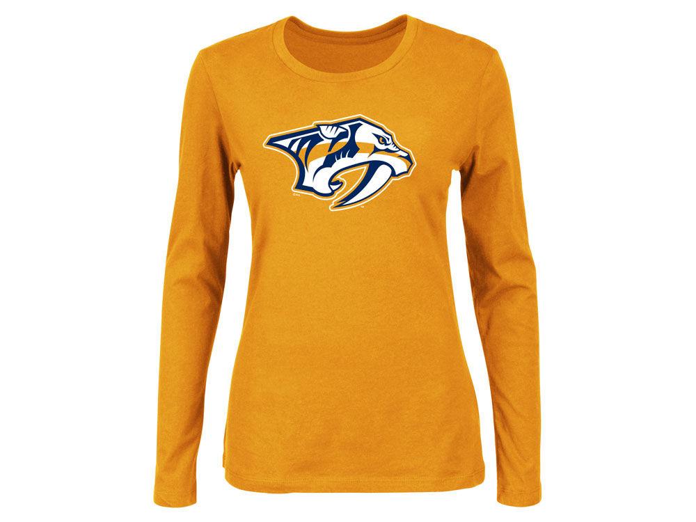 3ee42cf9e0 Nashville Predators Majestic NHL Women's Primary Logo Long Sleeve T-Shirt