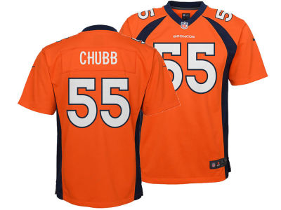 Denver Broncos Bradley Chubb Nike NFL Men's Draft Game Jersey