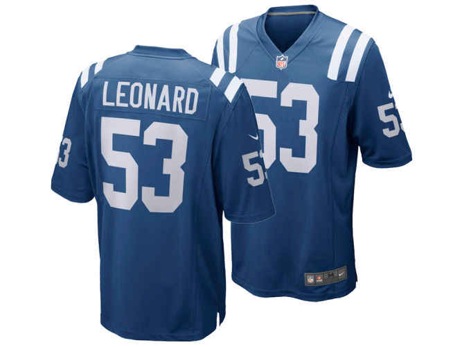 Men's Game Darius Jersey Leonard Colts Nfl Indianapolis Nike kXiOTPZu