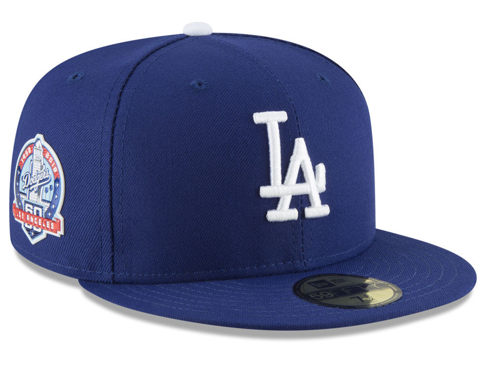Los Angeles Dodgers New Era MLB Authentic Collection 60th Anniversary  59FIFTY Cap  a1b0c549f819