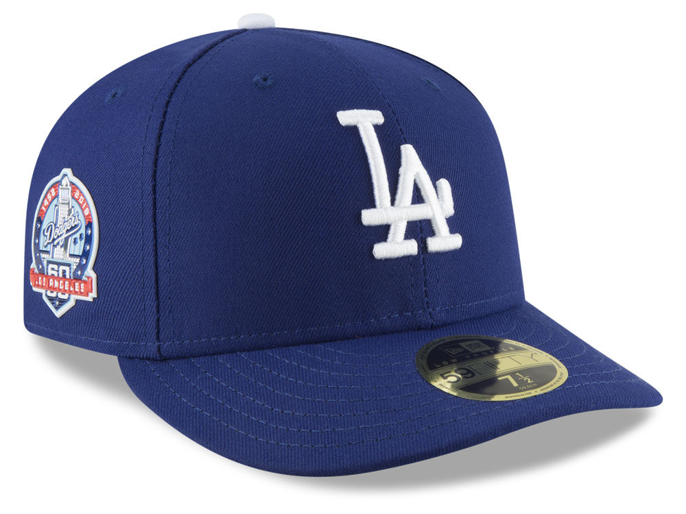 Los Angeles Dodgers New Era MLB Authentic Collection 60th Anniversary 59FIFTY  Cap  761512b48e8f